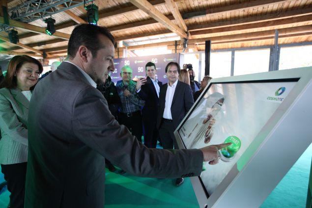 Ο Υπουργός Ψηφιακής Πολιτικής, Τηλεπικοινωνιών και Ενημέρωσης, κ. Νίκος Παππάς ενεργοποιεί το πρώτο δοκιμαστικό δίκτυο 5G στην Ελλάδα, το οποίο πέτυχε live ταχύτητες πάνω από 12Gbps